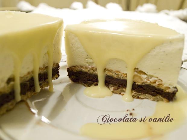 prajitura cu mousse de ciocolata alba