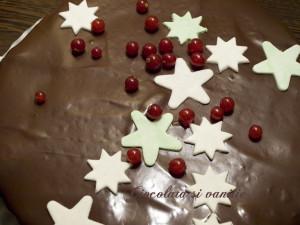 Tort decorat cu stelute din pasta de zahar