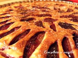 Tarta cu prune, frangipane si ciocolata