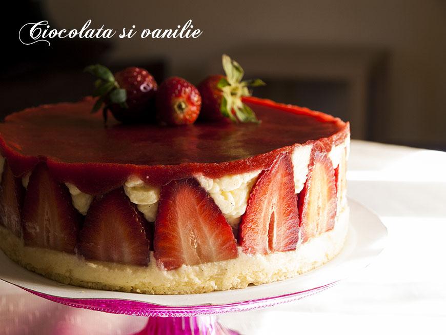 Fraisier – gâteau cu căpșune