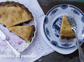 gateau basque - prajitura cu visine, blat cu migdale si crema de vanilie