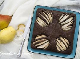 prajitura cu ciocolata si pere