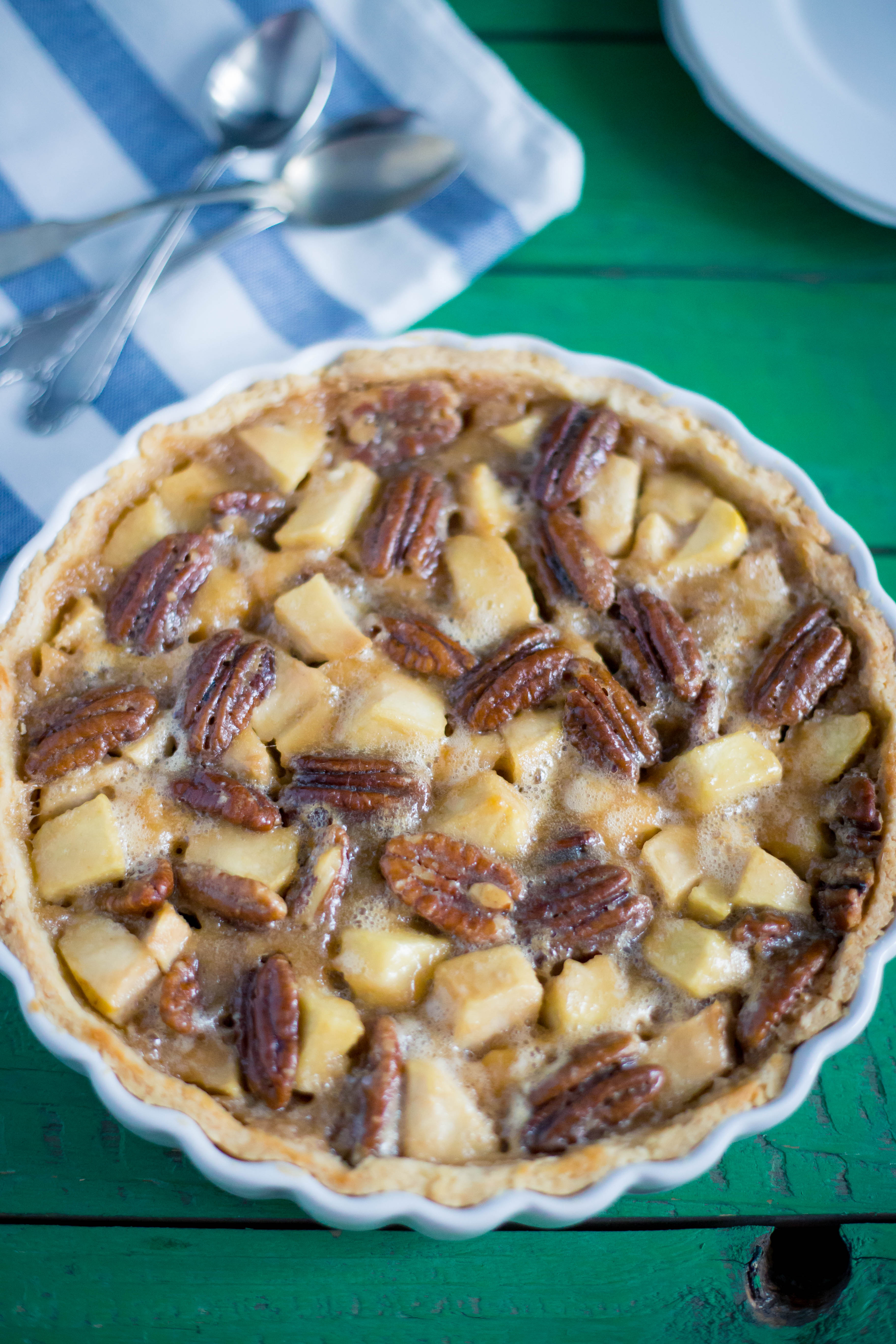 tarta cu mere si pecan