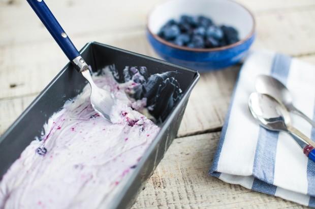 înghețată cu afine