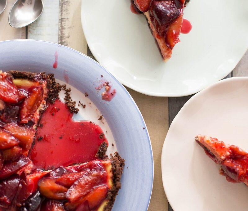 După vacanță…Cheesecake cu prune