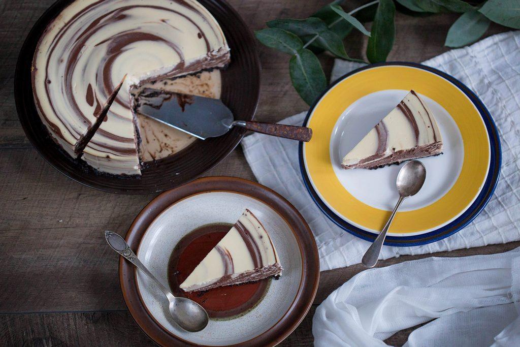 cheesecake în două culori