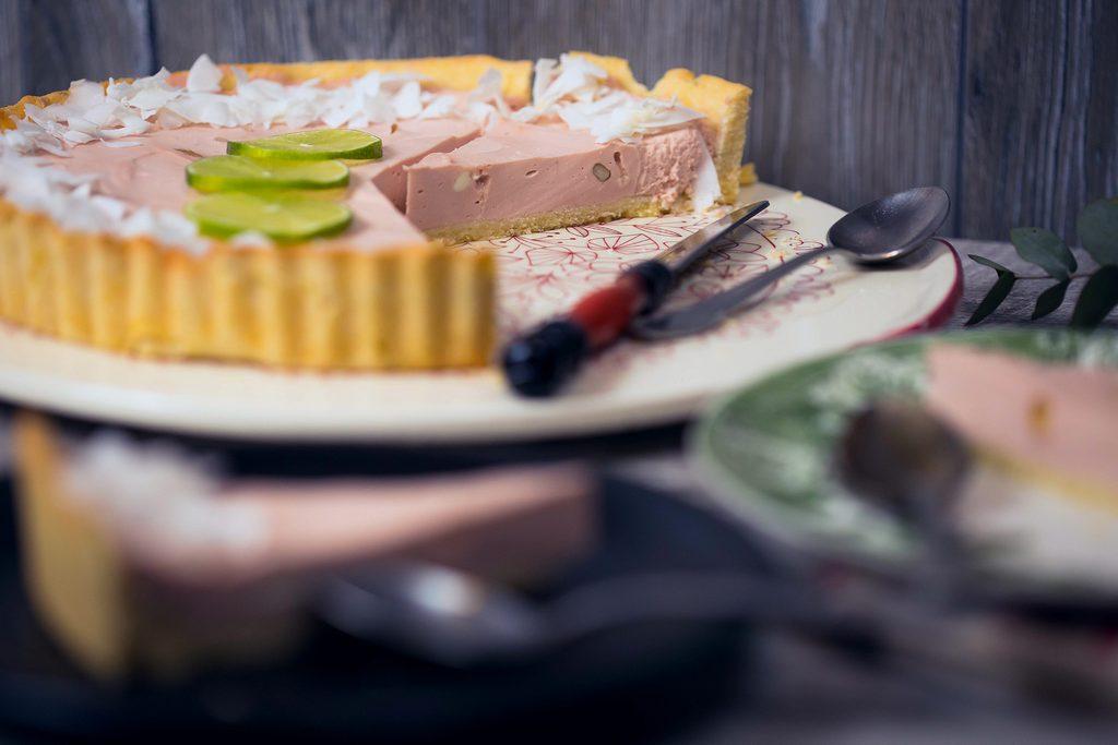 prăjitură fără zahăr - cheesecake cu cocos și lămâie