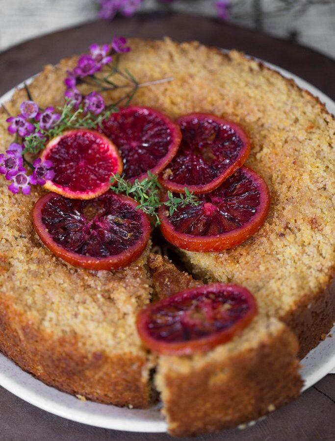 Prăjitură cu mălai și portocale roșii (fără gluten)