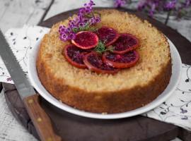 prăjitură cu mălai și portocale roșii
