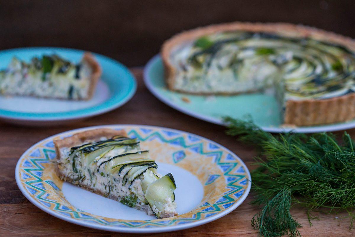tartă cu ricotta și zucchini