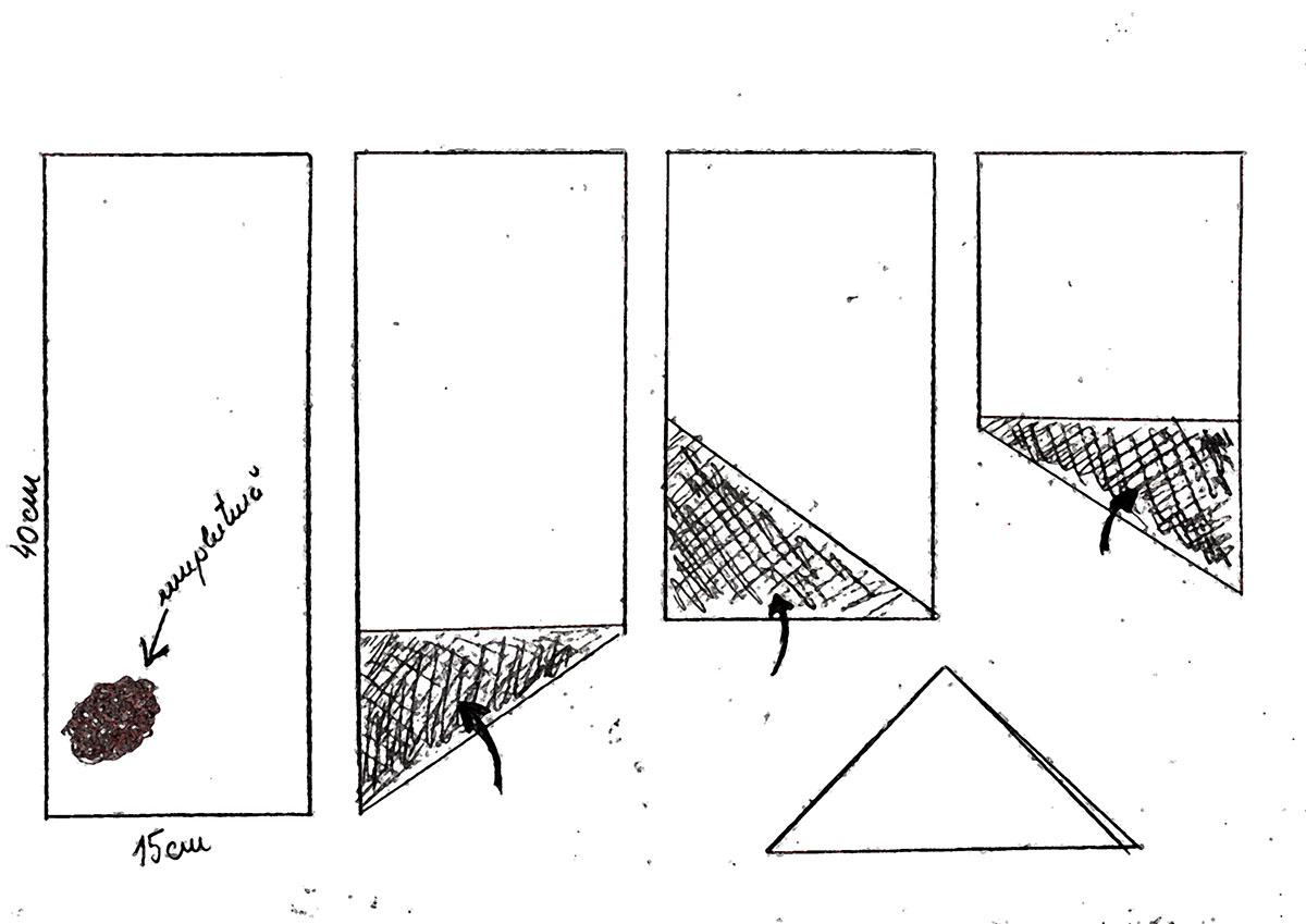 cum impachetezi plăcinte în triunghi