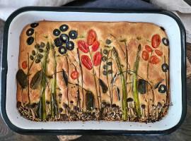 focaccia art - focaccia cu ierburi aromatice