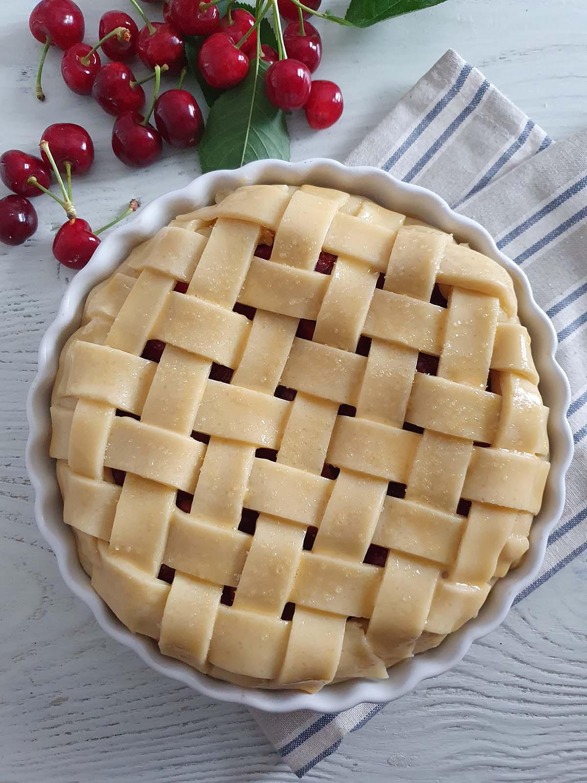 plăcintă americană cu cireșe