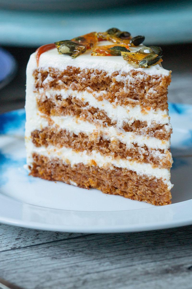 tort cu dovleac și caramel