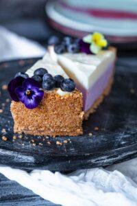 cheesecake fără coacere cu afine
