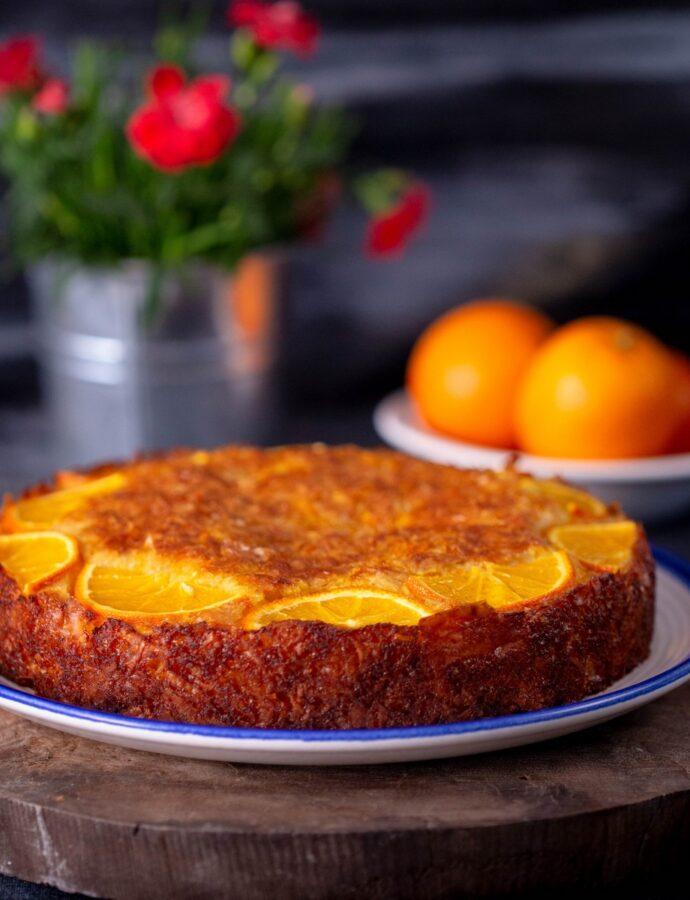 Portokalopita | Prăjitură cu portocale și iaurt