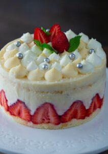 fraisier - prăjitură cu căpșuni