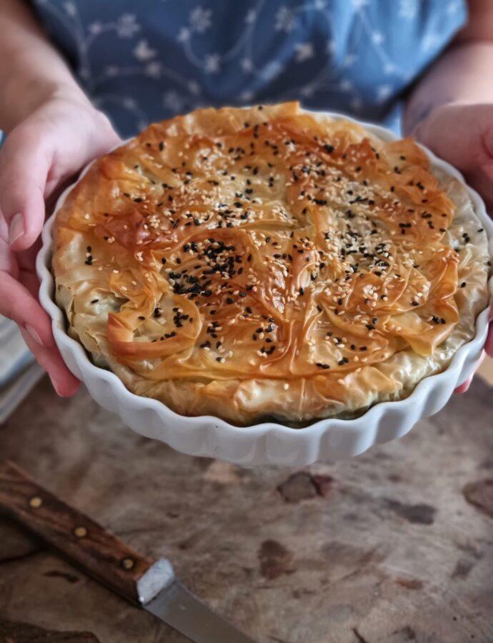 Plăcintă cu spanac și brânză sărată