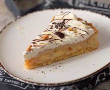 Tartă banoffee |  Tartă cu banane și caramel